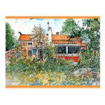Carl Larsson: La cabaña, pintando por Larsson Tarjeta Postal