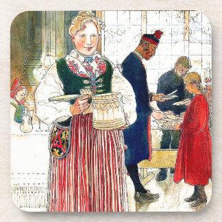 Carl Larsson Lady Christmas Holidays Coaster