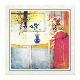 Carl Larsson Lilianna y el azafrán Impresión En Lienzo Estirada
