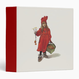 Carl Larsson Little Swedish Girl: Brita as Iduna 3 Ring Binder