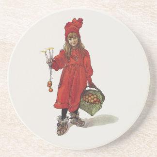 Carl Larsson Little Swedish Girl: Brita as Iduna Beverage Coaster
