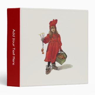 Carl Larsson Little Swedish Girl: Brita as Iduna Vinyl Binder