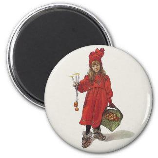 Carl Larsson Little Swedish Girl: Brita as Iduna Refrigerator Magnet