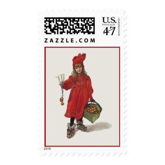 Carl Larsson Little Swedish Girl: Brita as Iduna Postage
