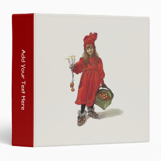 Carl Larsson Little Swedish Girl Brita Personalize 3 Ring Binder