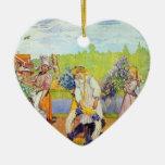 Carl Larsson - los vientos del verano del exterior Ornamento Para Arbol De Navidad