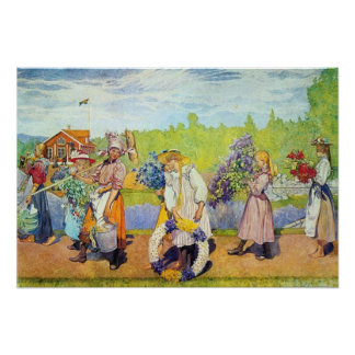 Carl Larsson Outside Summer Winds Are Blowing Print