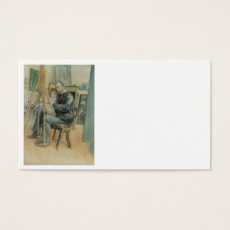 Carl Larsson Painting with His Daughter Business Card