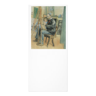 Carl Larsson Painting with His Daughter Rack Card