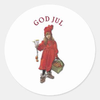 Carl Larsson Paints Daughter Brita as Iduna Classic Round Sticker