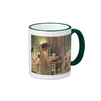 Carl Larsson Santa Lucia Day Christmas in Sweden Ringer Mug