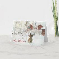 Carl Larsson Scandinavian Winter Home Christmas Holiday Card
