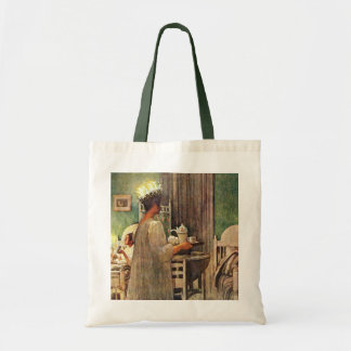 Carl Larsson St. Lucia Day Christmas in Sweden Budget Tote Bag