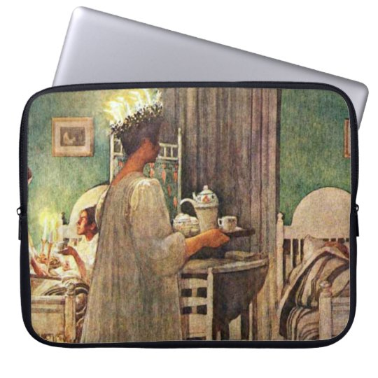 Carl Larsson St. Lucia Day Christmas in Sweden Computer Sleeve