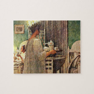 Carl Larsson St. Lucia Day Christmas in Sweden Jigsaw Puzzle