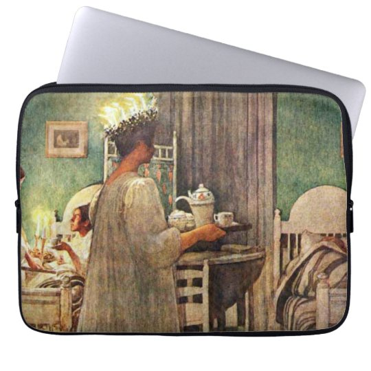 Carl Larsson St. Lucia Day Christmas in Sweden Laptop Sleeve