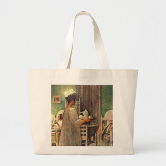 Carl Larsson St. Lucia Day Christmas in Sweden Large Tote Bag