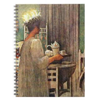 Carl Larsson St. Lucia Day Christmas in Sweden Notebook