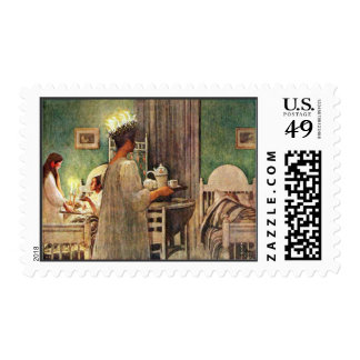 Carl Larsson St. Lucia Day Christmas in Sweden Postage Stamp