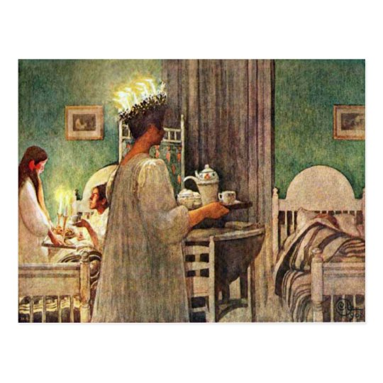 Carl Larsson St. Lucia Day Christmas in Sweden Postcard