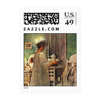Carl Larsson St. Lucia Day Christmas in Sweden Stamp