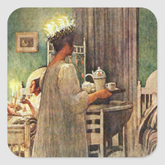 Carl Larsson St. Lucia Day Christmas in Sweden Sticker