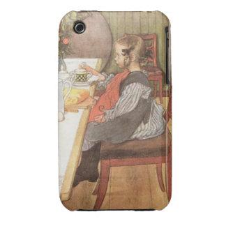 Carl Larsson un desayuno desgraciado de las iPhone 3 Case-Mate Fundas
