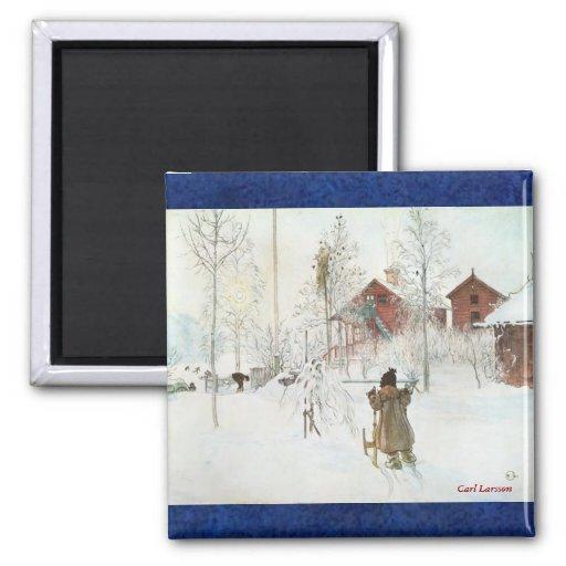 Carl Larsson y navidad sueco Imán Para Frigorífico