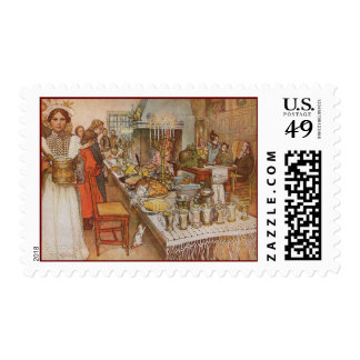 Carl Larsson's Christmas Eve Postage Stamps