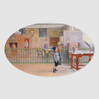 Carl Larsson's Sunborn Studio Oval Sticker