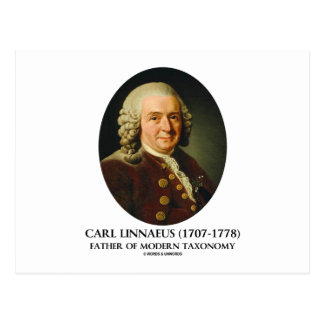 Carl Linnaeus Father Of Modern Taxonomy Post Cards