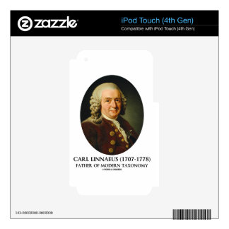 Carl Linnaeus Father Of Modern Taxonomy iPod Touch 4G Decal
