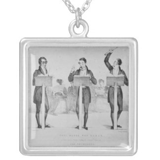 Carl Maria von Weber  at Covent Garden Theatre Silver Plated Necklace