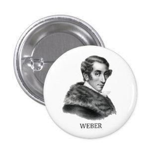 Carl Maria von Weber, negro Pin Redondo De 1 Pulgada