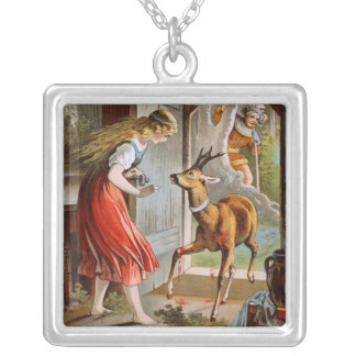 Carl Offterdinger: Little Brother & Little Sister Square Pendant Necklace