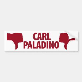 ¿Carl Paladino no para el gobernador de Nueva York Pegatina De Parachoque