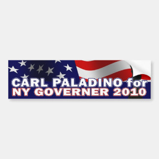 Carl Paladino para el gobernador Nueva York 2010 Etiqueta De Parachoque