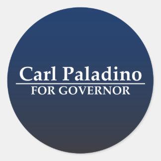 Carl Paladino para el gobernador Etiqueta Redonda