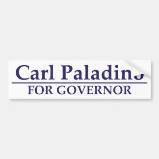 Carl Paladino para el gobernador Pegatina Para Auto