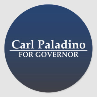 Carl Paladino para el gobernador Pegatina Redonda