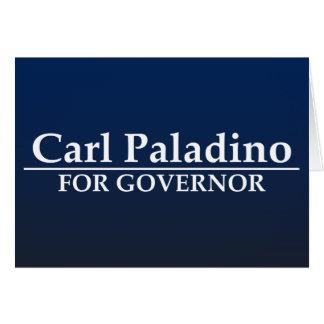 Carl Paladino para el gobernador Tarjeta De Felicitación