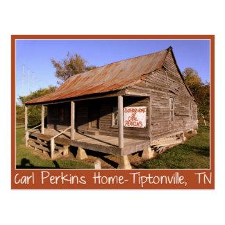 Carl Perkins Boyhood Home-Tiptonville, TN Postcard