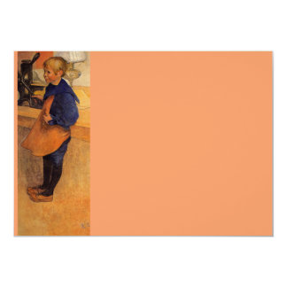 Carl Pontus Wearing Apron and Clogs 5x7 Paper Invitation Card