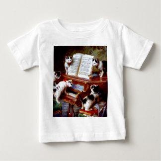 Carl Reichert Kittens Playing Piano Baby T-Shirt