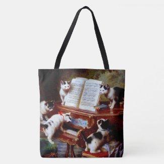 Carl Reichert Kittens Playing Piano Crossbody Bag