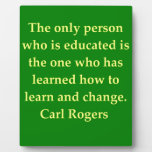 carl rogers quote photo plaque