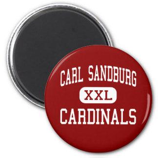 Carl Sandburg - cardenales - centro - puerto franc Imán Redondo 5 Cm
