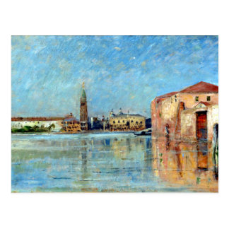 Carl Skånberg Doge's Palace Venetian Canal Scene Postcard