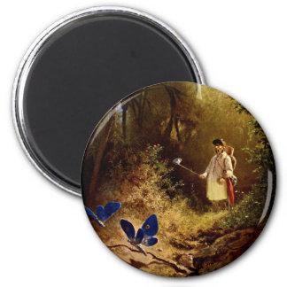 Carl Spitzweg - The Butterfly Hunter Magnet