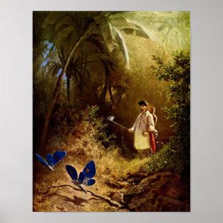 Carl Spitzweg - The Butterfly Hunter Posters